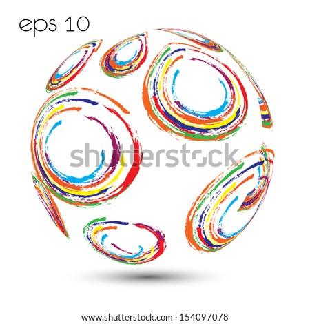 Abstract globe  . Vector illustration - stock vector