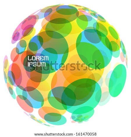 Abstract globe. Vector illustration.  - stock vector