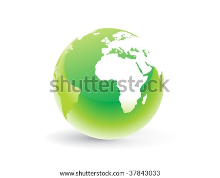 abstract globe with white background, vector illustration
