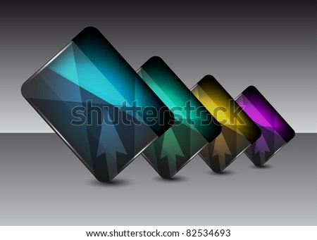 Abstract glossy glass speech bubble vector background