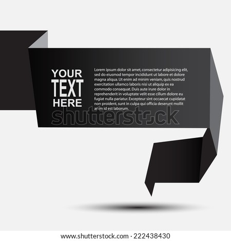 Abstract glossy green origami speech bubble. Vector abstract background // modern speech - stock vector