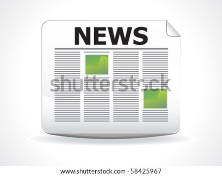 abstract glossy news icon vector illustration - stock vector
