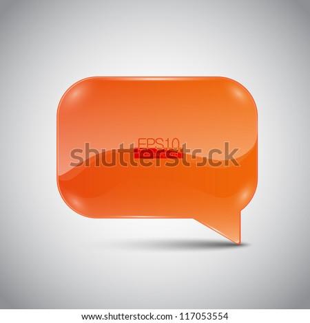 Abstract glossy speech bubble - stock vector