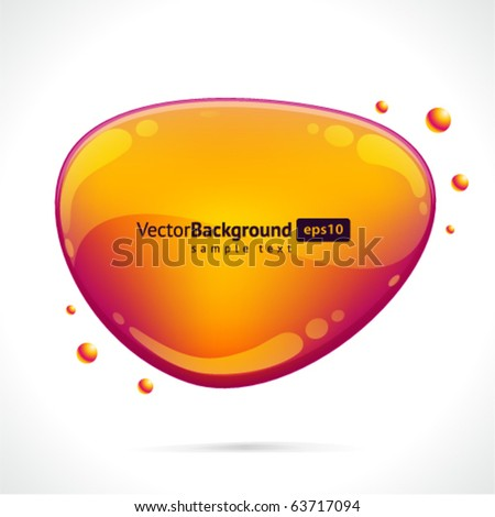 Abstract glossy speech bubble vector background - stock vector