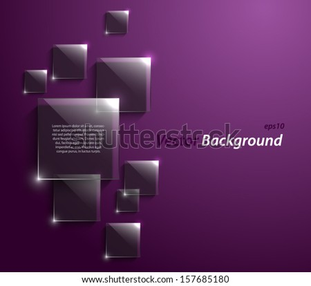 Abstract glossy squares panel / banners background design for websites or business. Clean and modern style with glass - stock vector