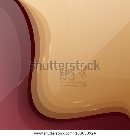 Abstract glossy technology lines background. - stock vector