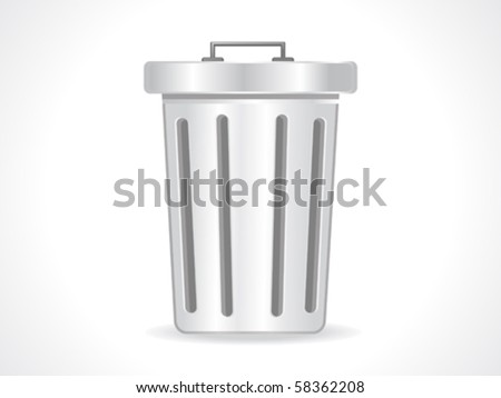 abstract glossy trash icon vector illustration - stock vector