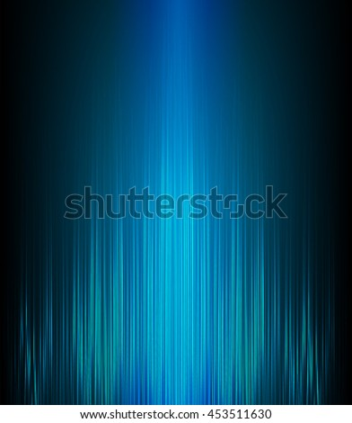 Abstract glow blue background - stock vector