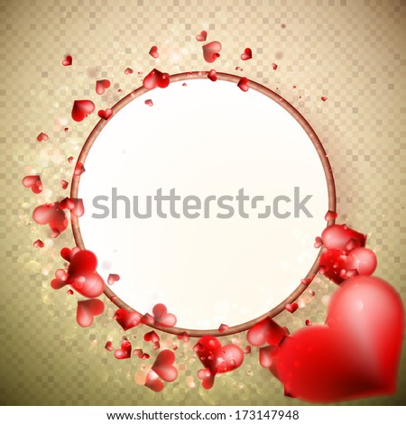 Abstract Glow Soft Hearts for Valentines Day Background. + EPS10 vector file - stock vector