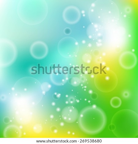 Abstract glowing background with circles