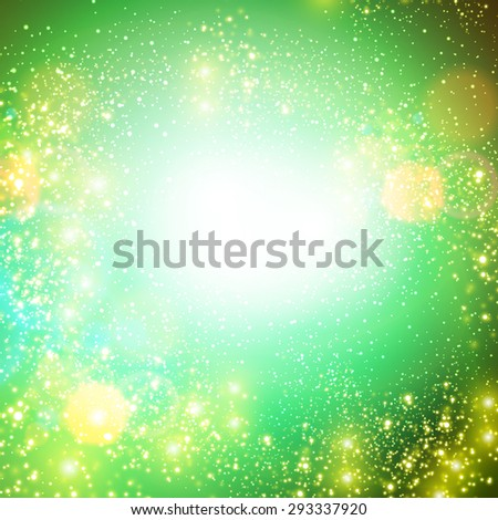 Abstract glowing background with circles - stock vector