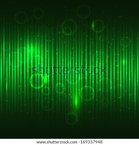 Abstract glowing green vector background. - stock vector