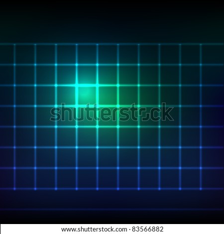abstract glowing grid on dark background. eps10 - stock vector