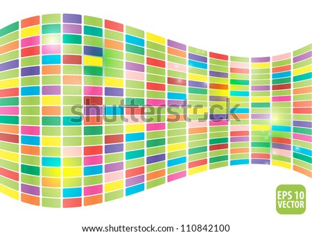 Abstract glowing illustration background