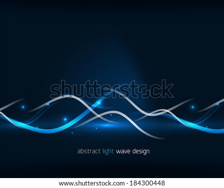 Abstract glowing lines