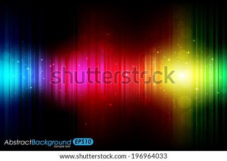 Abstract glowing rainbow/spectrum background. Vector Illustration