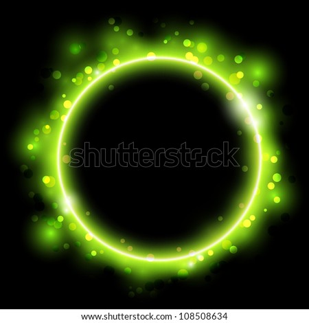 Abstract glowing ring - stock vector
