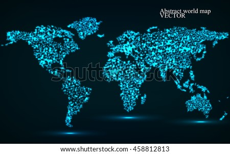 Abstract glowing world map vector illustration stock vector abstract glowing world map vector illustration eps10 gumiabroncs Gallery