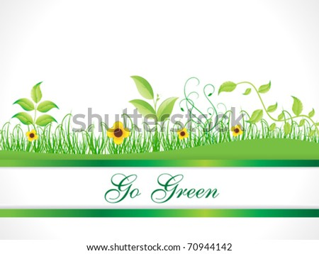 abstract go green background vector illustration - stock vector