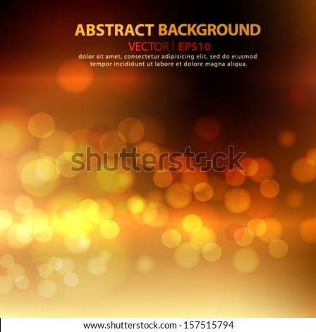 Abstract gold and brown background with space for text. Vector EPS 10 illustration. - stock vector
