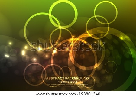 Abstract gold and brown background with space for text. Vector EPS 10 illustration.