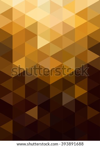 Abstract gold background. Geometric abstract vector background, pastel color. Modern and stylish abstract design poster, cover, card design. Vintage texture, dots pattern and geometric elements - stock vector