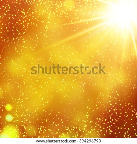 Abstract gold bokeh background. Vector illustration - stock vector