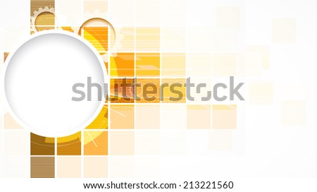abstract gold cube vector technology background communication interface for business solution - stock vector
