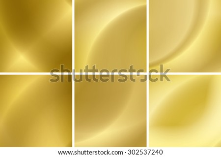 abstract gold neon backgrounds - vector set - eps 10 - stock vector