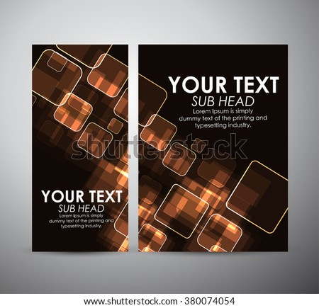 Abstract gold squares. Graphics resources design template. Vector illustration - stock vector