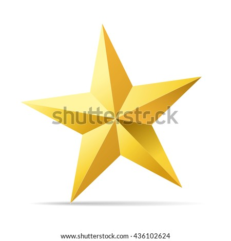 abstract gold star