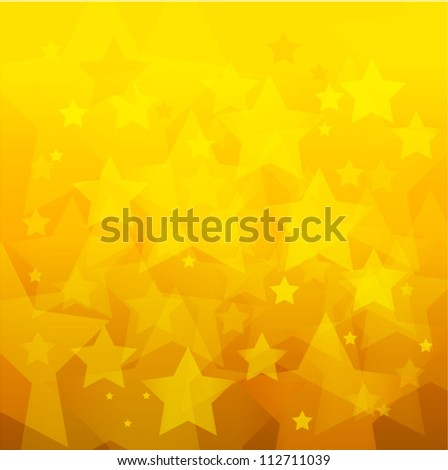 abstract gold star bokeh background