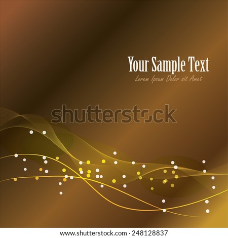 Abstract gold wave background