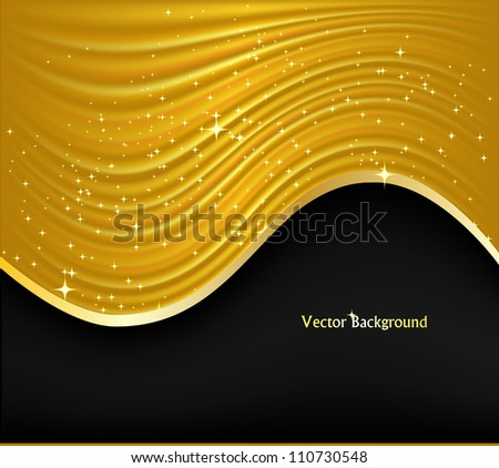 Abstract golden background. Vector illustration - stock vector