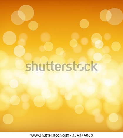 abstract golden background with blur effects. vector - stock vector