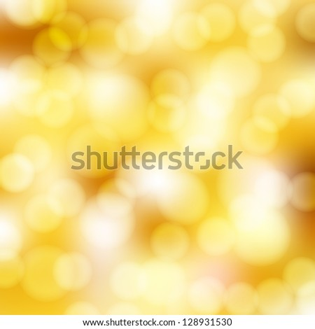 abstract golden background with bokeh - stock vector
