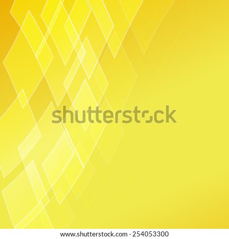 abstract golden background with rhombus - stock vector