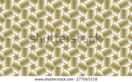 Abstract golden cubes decorative endless pattern design vector - stock vector