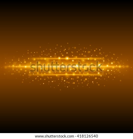 Abstract Golden Light Bokeh Background Vector Illustration. Magic Gold Defocused Glitter Sparkles.