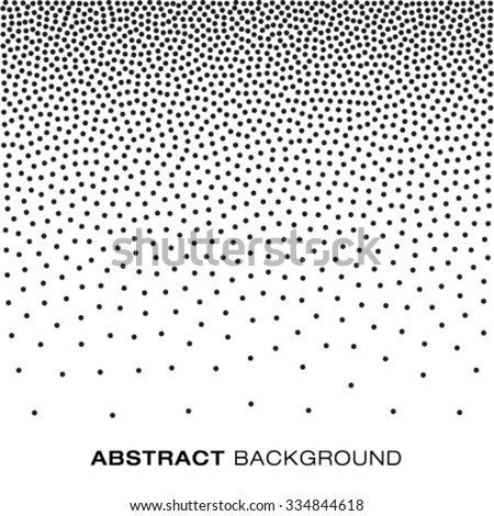 Abstract Gradient Halftone Dots Background, vector illustration  - stock vector