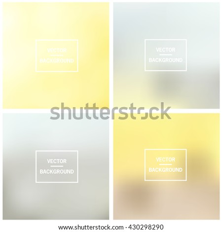 Abstract gradient set colorful blurred vector backgrounds. Vector blur background template. - stock vector