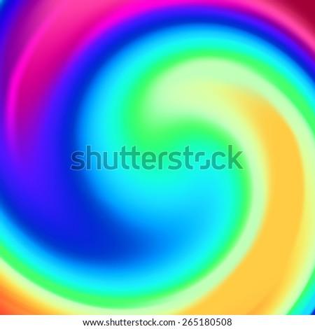 Abstract gradient spectrum spiral twirl vector background - stock vector
