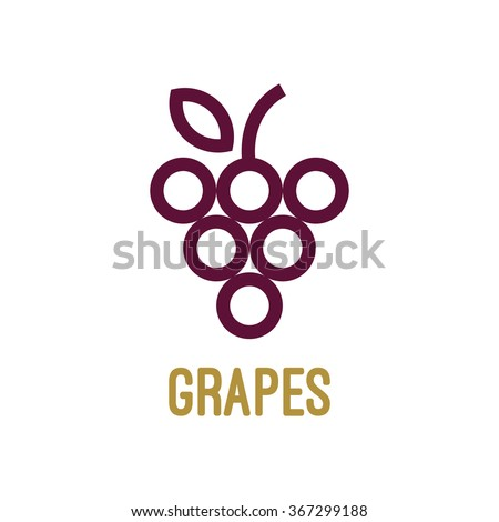 Abstract grapes logo template. Grapes icon. Purple grapes. Vector - stock vector