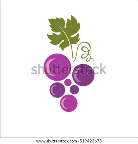 Abstract grapes symbol. Grapes icon. Purple grapes. Vector