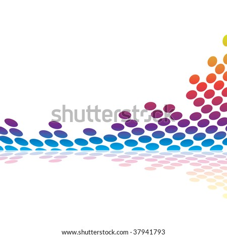 Abstract graphic equalizer or audio waveform illustration in vector format. - stock vector