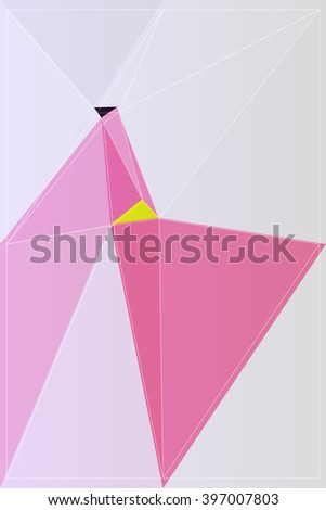abstract graphic origami polygon