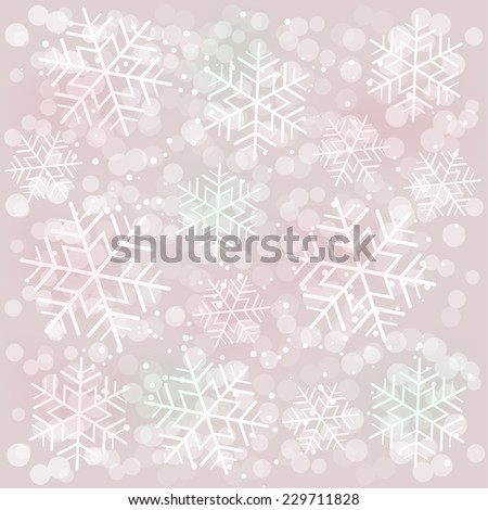 Abstract gray background with snowflakes