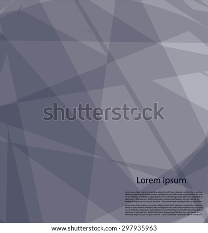 Abstract gray background with text