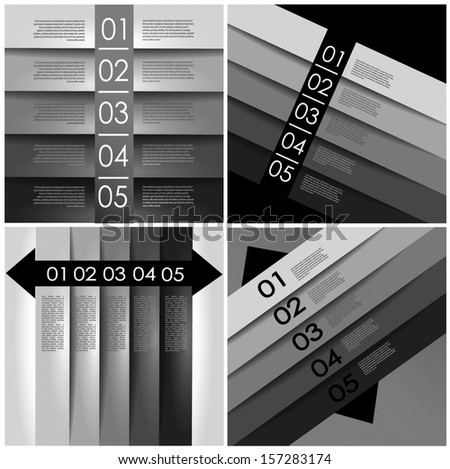 abstract gray number line background design template for info-graphics, numbered banners, graphic or website layout vector