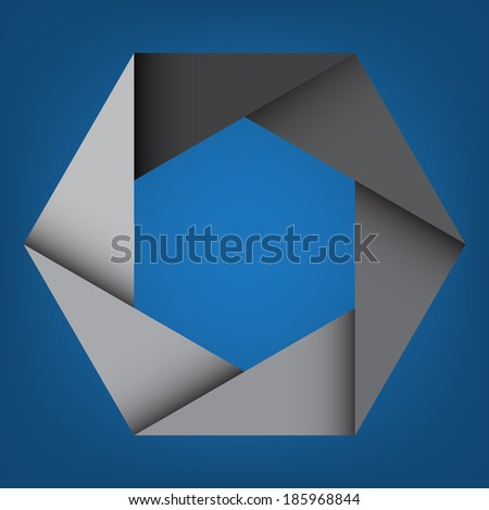 Abstract Gray Octagon Background,design element.eps10 - stock vector